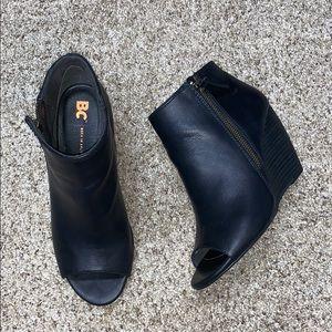 BC open toe wedge booties 7